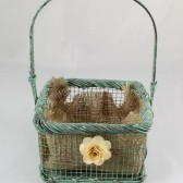 Repurposed Flower Girl Basket