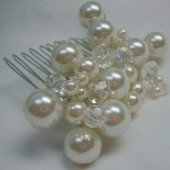Crystal&Pearl hair comb