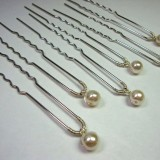 Single pearl hair pins