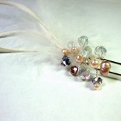 Pearl crystal fascinator