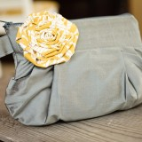 Gathered Clutch in Gray