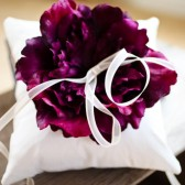 Ring Bearer Pillow in Wild Plum