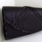 Black and silver pintuck purse