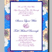 Printable Amanda Wedding Invitation by Mauve Binchely / Custom color and wording / DIY weddings