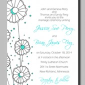 Printable Eva Wedding Invitation by Mauve Binchely / Custom color and wording / DIY weddings