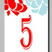 Printable Table Numbers by Mauve Binchely / Part of Maya Collection / Custom color and wording / DIY weddings