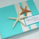 Custom Beach Wedding Guest Book