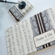 Custom Wedding Vintage Sheet Music Guest Book