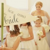 Here Comes The Bride Flag for your Ringbearer or Flowergirl