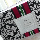 Custom Framed Monogram Wedding Guest Book