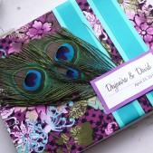Custom Embellished Cover Guest Book in Your Colors!