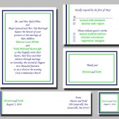Free Gift - Printable Lusie Wedding Invitation, RSVP, Thank you card by Mauve Binchely /FREE Wraparound label and Gift Tag/Custom color/DIY