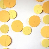 Yellow Paper Garland