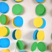 Yellow, Blue and Green Paper Garland