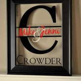 Family Name Sign Picture Frame