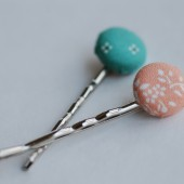Vintage Fabric Hair Pins