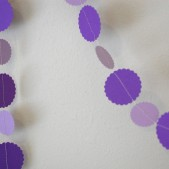 Purple Paper Garland