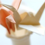 Origami Crane Cupcake Toppers, custom colors