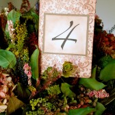 Damask Table Number Card