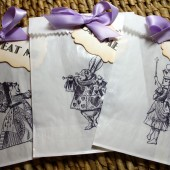 Alice in Wonderland Glassine Bags