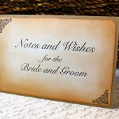 Vintage Inspired Notes and Wishes Sign 4x6