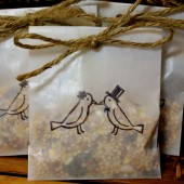 Bird Seed Send Off Favors