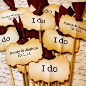 """I do"" Cupcake Toppers"