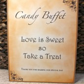 Vintage Inspired Candy Buffet Sign