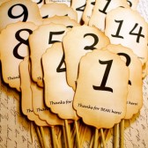 Table Number Skewers