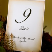 5x7 Table Number Card