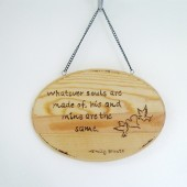 Emily Bronte love quote sign