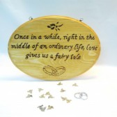 Wood burned Fairy Tale Sign