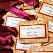 Vintage Inspired Damask Escort Cards