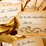 Vintage Inspired Escort Cards - Scroll
