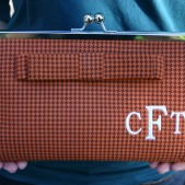Custom Clutch in Houndstooth