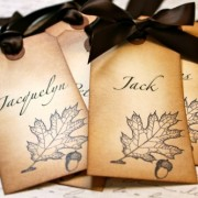 Vintage Inspired Fall Themed Place/Escort Cards