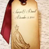 Vintage Inspired Wedding Wish Tags / Escort Cards / Favor Tags