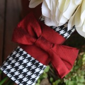Houndstooth Bridal Bouquet Wrap