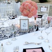 Dandy Damask Table Runner Rental