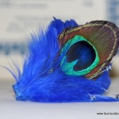 Musical Note Peacock Feather Comb