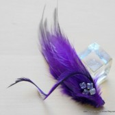Royal Purple and Rhinestone Hair Comb