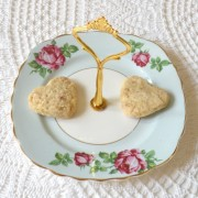 Pale blue candy cookie dish
