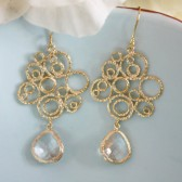 Gold Bubble Earrings