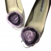 Chiffon Ombre Purple Shoe clips