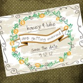 Rustic Doodle Save the Date