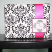 Madison Damask Guest Book