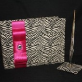 Zebra Guestbook - Many colors!