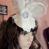 Patsy vintage inspired bubble veil, headpiece