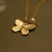 Butterfly Flower Girl Necklace
