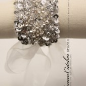 *  Diana Crystal and Beaded Cluster Bracelet